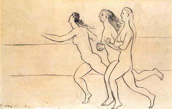 Fotografía: Reproducción del cuadro Las tres mujeres de Pablo Picasso,                en Google Imágenes.